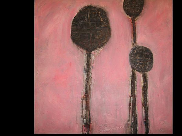 3 black Balloons