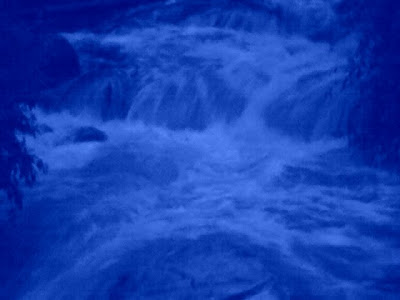Night engulfing the Fascinating Waterfall,Tirthan Valley