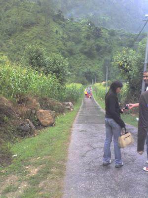 Ajay and Tusharika among Greens, Tirthan Valley
