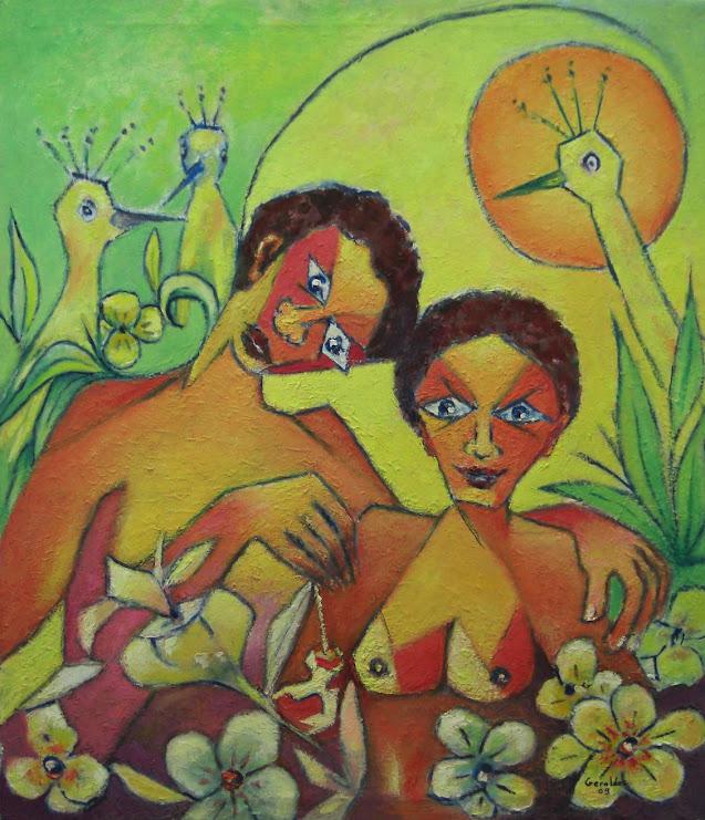 A Maçã - Pintura de 2009 (óleo sobre tela)