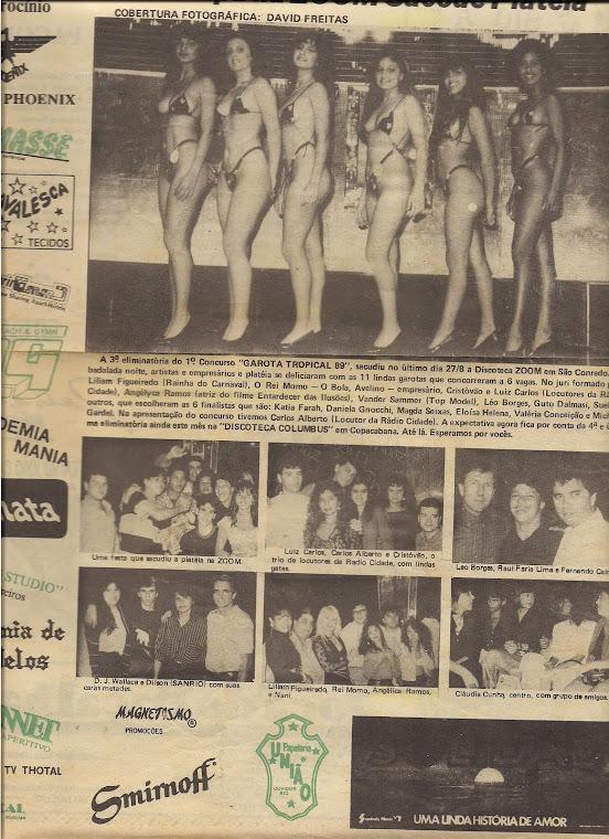 """Eu no corpo de jurado """"Concurso Garota Tropical"""" -Quem ganhou foi a Valeria Valensa, a globeleza"""