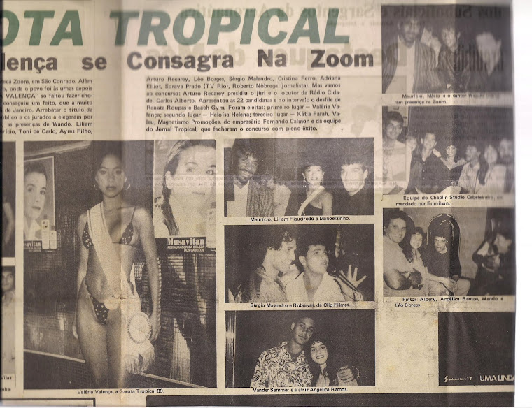 Eu na 3ª foto do lado direito junto do cantor Wando - Boate Zoom São Conrado