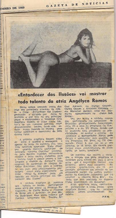 Eu sendo badalada pelo Jornal Gazeta de Notícias /RJ