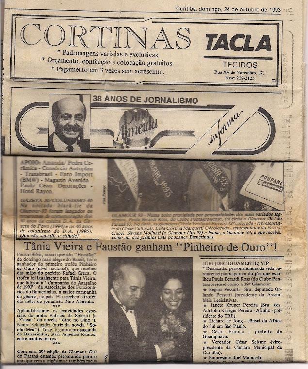 Eu sendo badalada pelo Jornalista Dino Almeida - Curitiba/Paraná