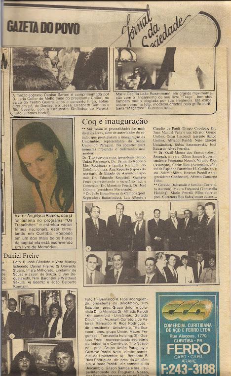 Eu sendo badalada pelo jornalista Dino Almeida - Curitiba
