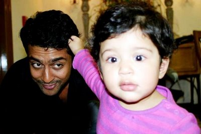actor suriya jyothika Daughter baby girl diya photo image still gallery