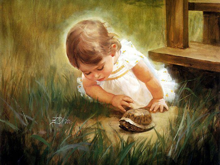 Creative Baby boy girl wonderful drawing photos 07