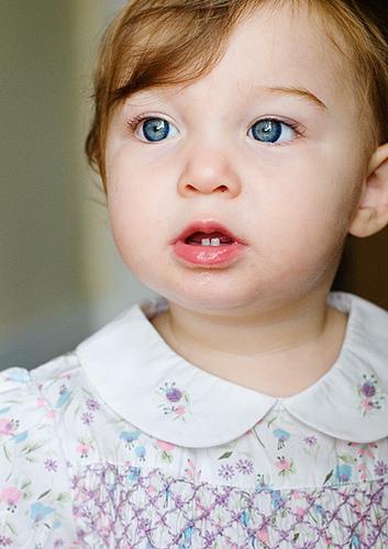 Cute baby girl in cute feel