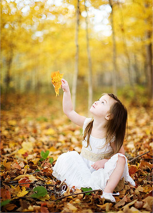Cute Baby Girl in Nature photo 02