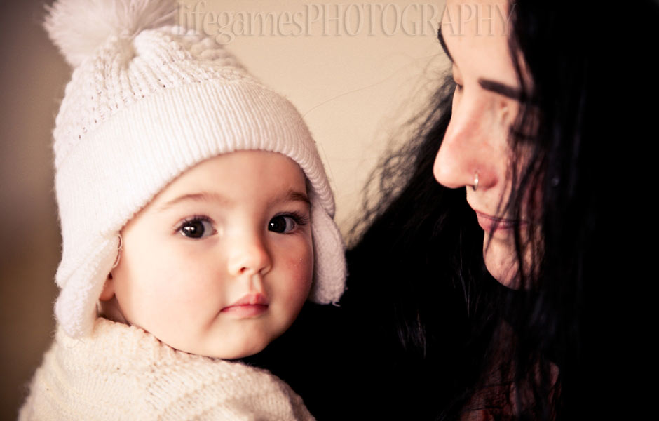 mother and Cute baby Girl photos
