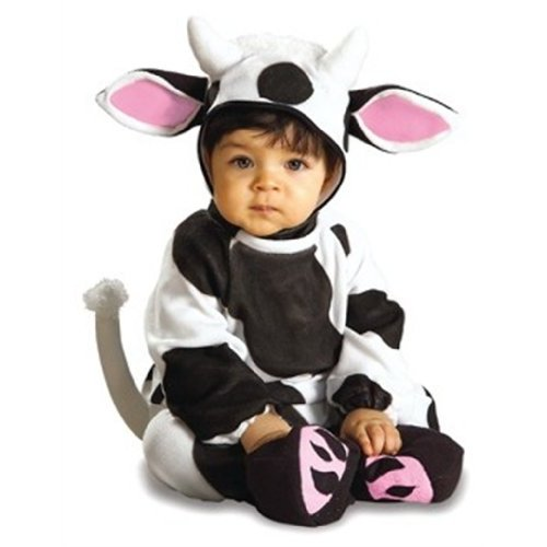 Cute baby boy in Rubies Cozy Cow costume