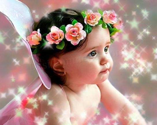 Baby PIctures: Babies With Flowers Wallpapers