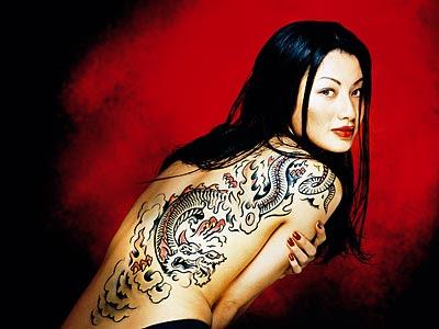 Girl Dragon Tattoo