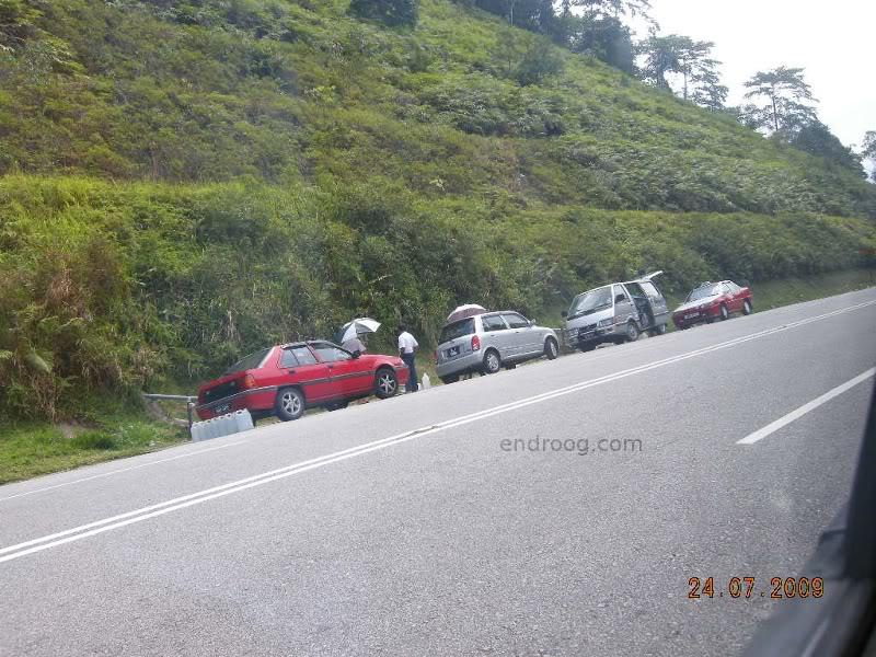 An uphill road from Batang Kali to Ulu Yam