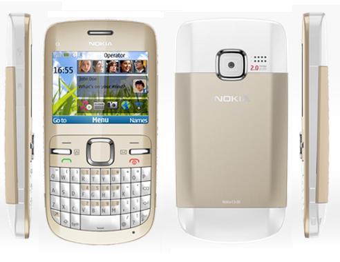 Black, White, Blue and Brown Nokia E5 Nokia C3: Cheap Price Phone With