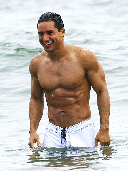 Mario Lopez Goes Shirtless for a Hula Hoop Competition