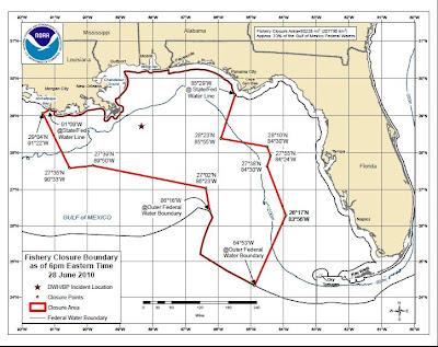 Fishery Closure Boundary Map June 28 2010 Jpg