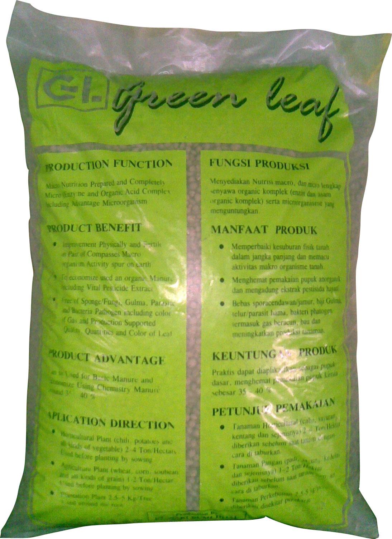 Pupuk organik granul &;green leaf&;