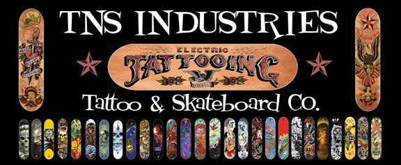 Tns Industries Tat2  N'  Sk8 Co./Master Tattoo Est. 1949