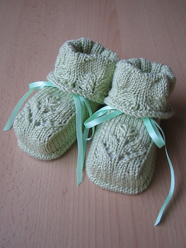 Lace Baby Booties Knitting Pattern : Free baby knitting patterns: Baby knitting: knitted baby booties