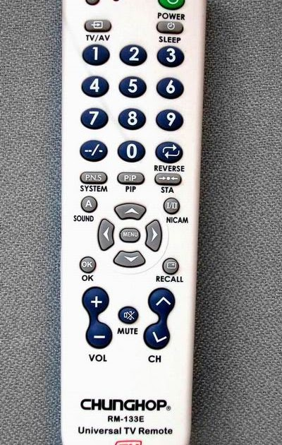 how to set up a universal remote to your tv