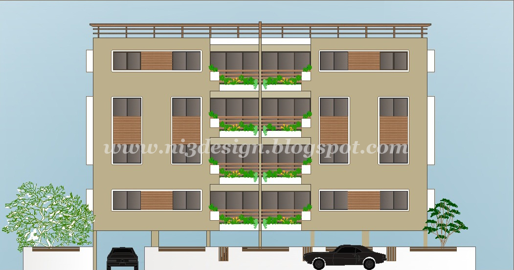 ni3design: Elevation Design for apartment at Ahmedabad