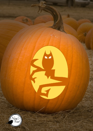 Nica\'s Nest: Halloween Pumpkin Carving Templates