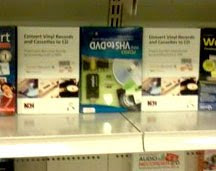 Golden Records Vinyl to CD or MP3 Software on the shelf at MicroCenter