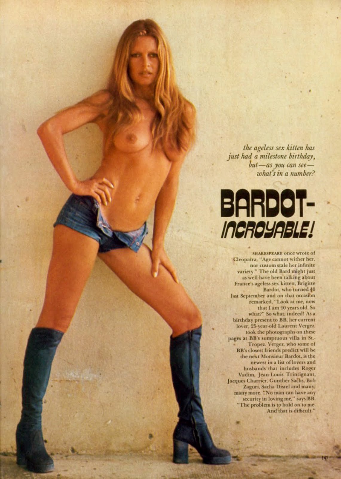 brigitte bardot nude ACiDPoP! - Brigitte Bardot dans Playboy US (1975).