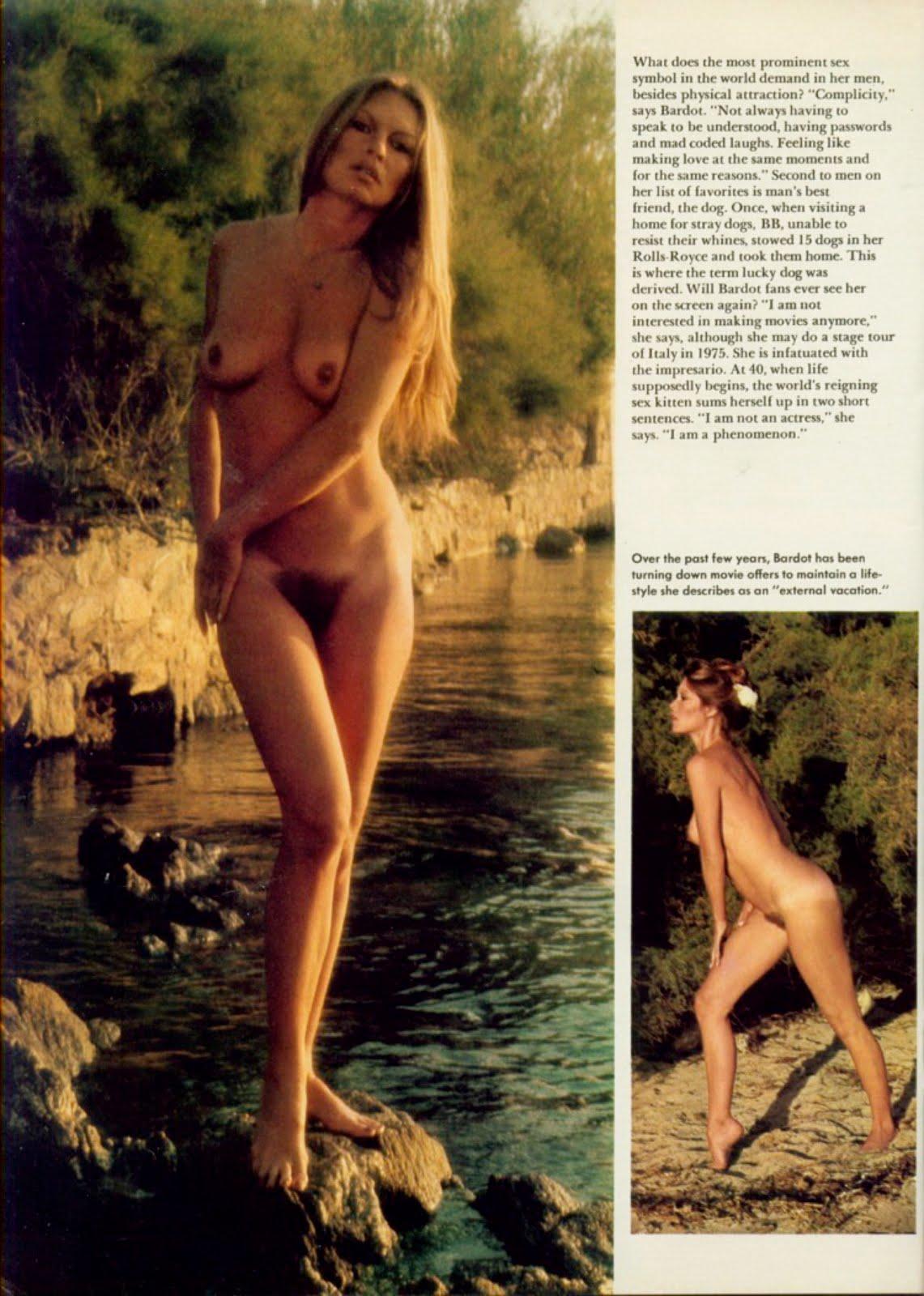 brigitte bardot nude Brigitte Bardot dans Playboy US (1975).