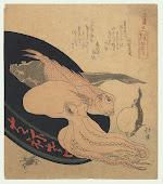 Sealife Surimono by Hokkei (1780 - 1850)