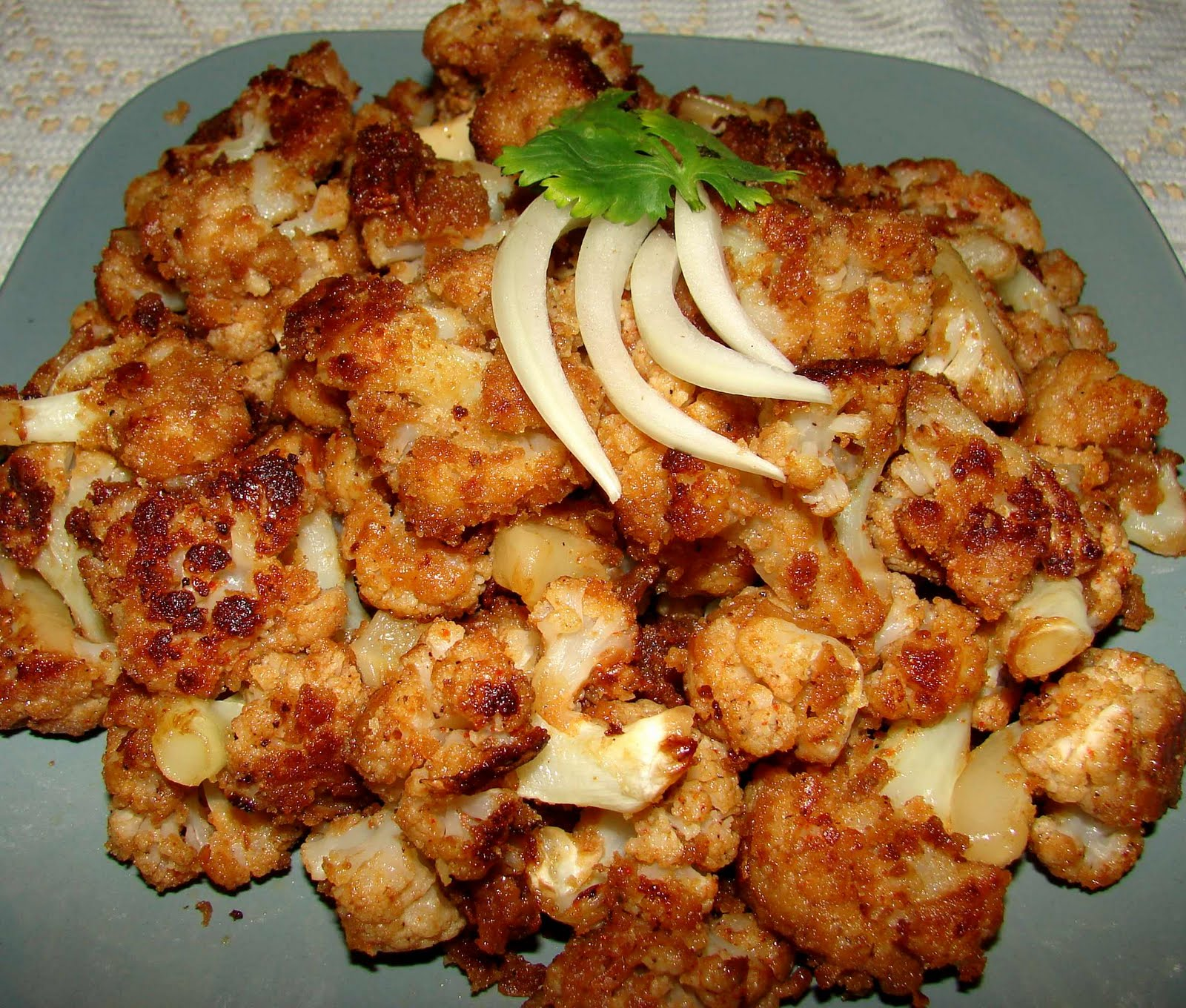 stir fried chicken in chili soy sauce spicy cauliflower stir fry