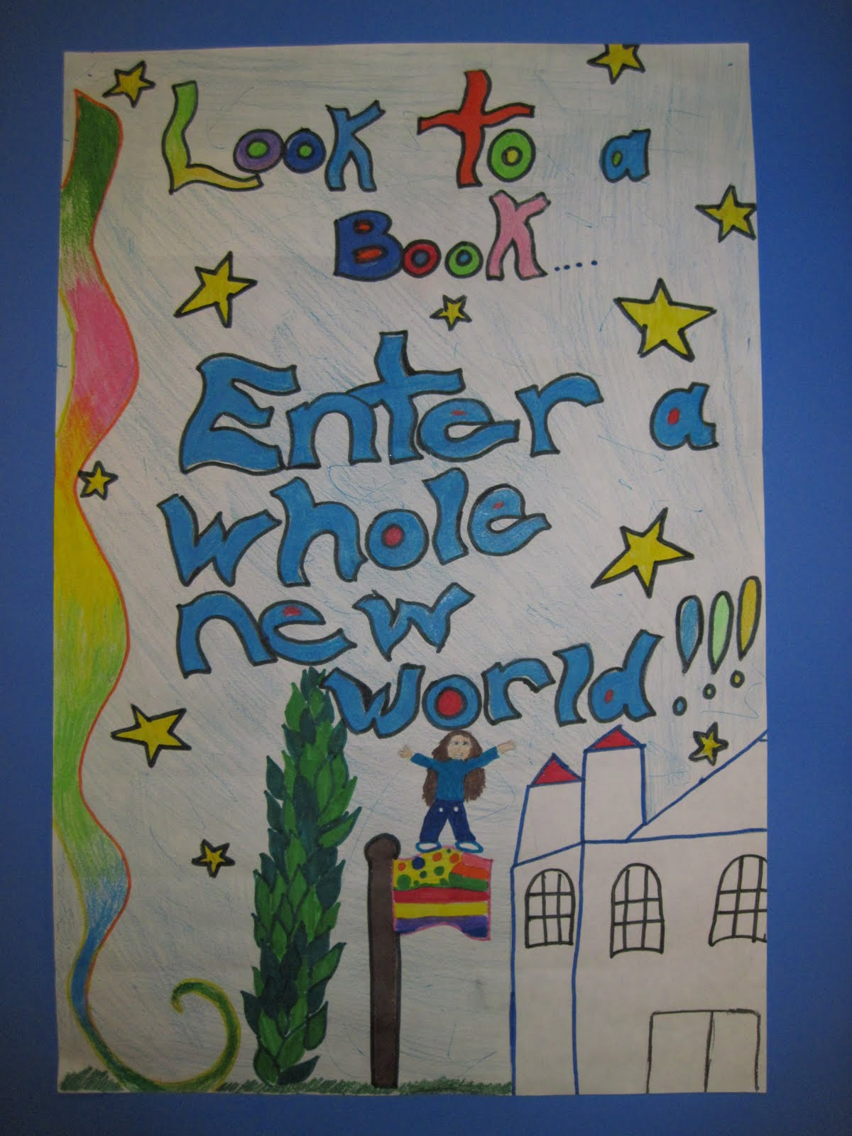 There\'s a Dragon in my Art Room: Posters for our Library by grade 4 & 5