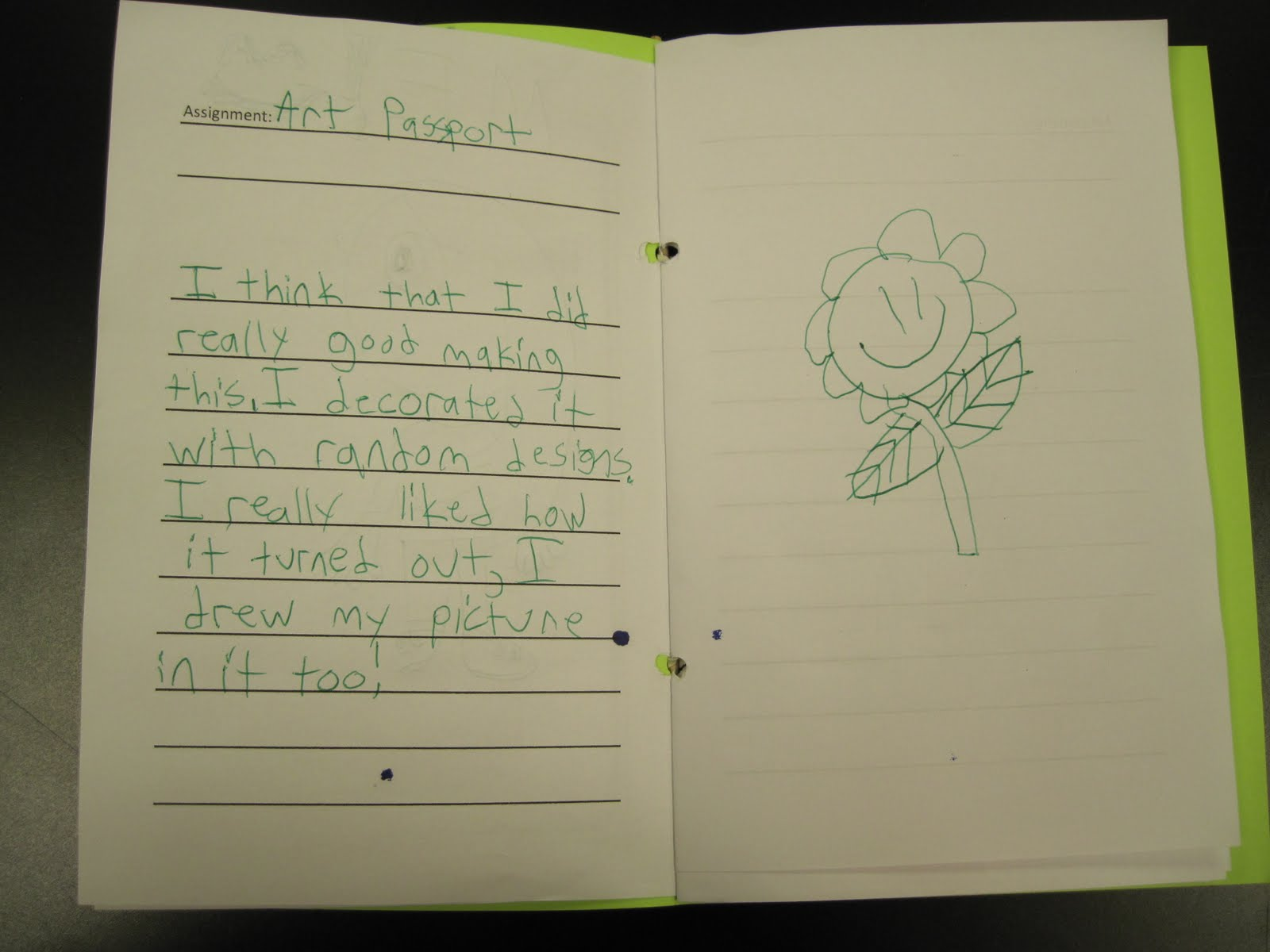 creative writing assignments for 4th graders