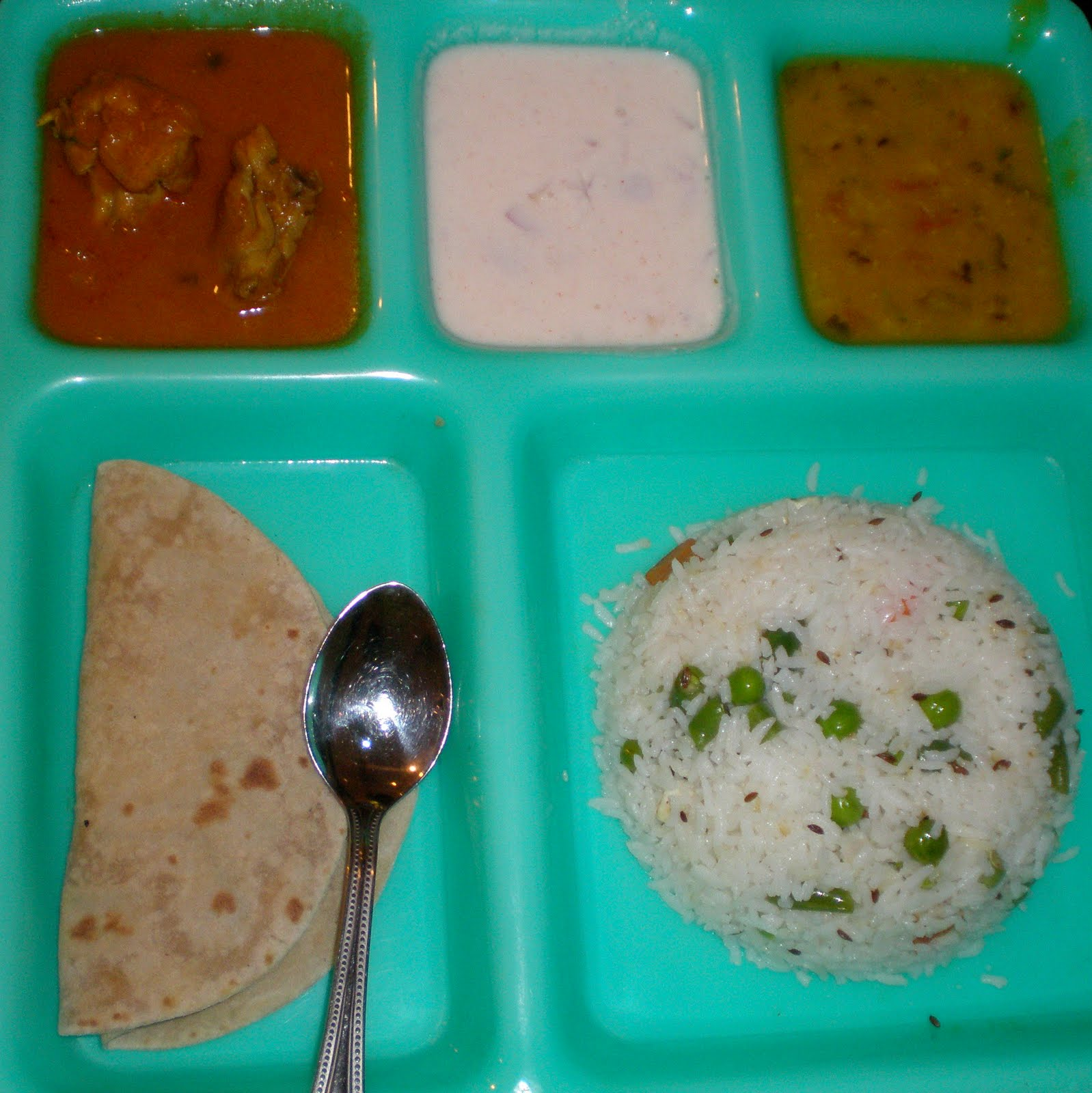 Niya\'s World: North Indian Thali Meal Combo at Tandoor Express, Chennai