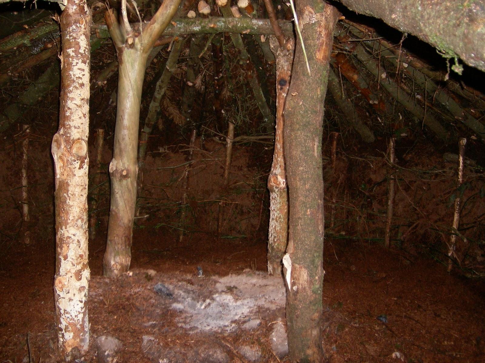 Short Term Shelters : Northern ireland bushcraft association long term shelter