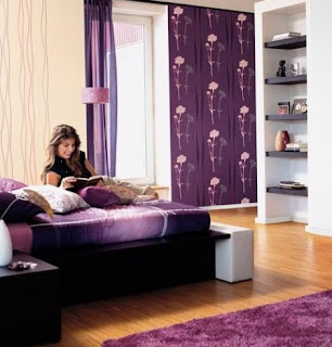 quarto casa preto roxo imagens