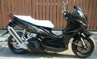 modifikasi motor  mio 2009 model bandung