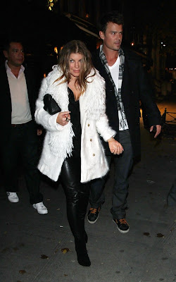 Fergie out to Dinner in NYC with Josh Duhamel