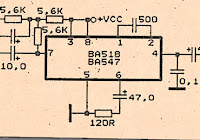 circuit audio amplifer with ic tba 611 electronic circuit rh elcircuit com