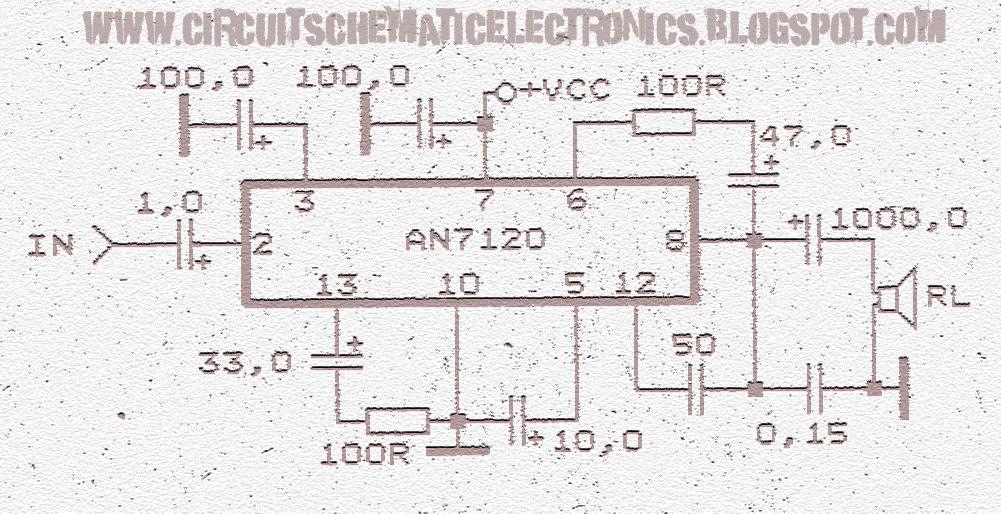 schematic audio power amplifier with ic an7120 subwoofer bass(figure 1 0) schematic circuit power amplifier an7120
