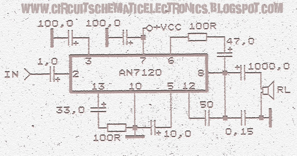 circuit wiring solution schematic audio power amplifier with ic an7120 rh circuitane blogspot com