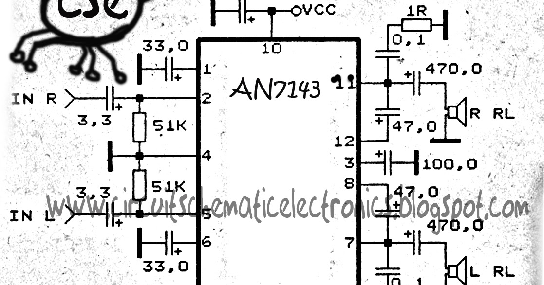 amplifier circuit with ic an7143