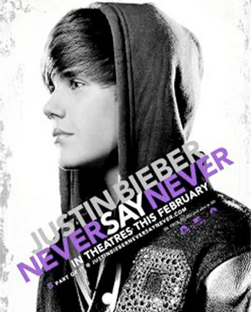 justin bieber never say never poster. Justin Bieber has just