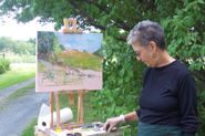 Shelli painting in Plein Air