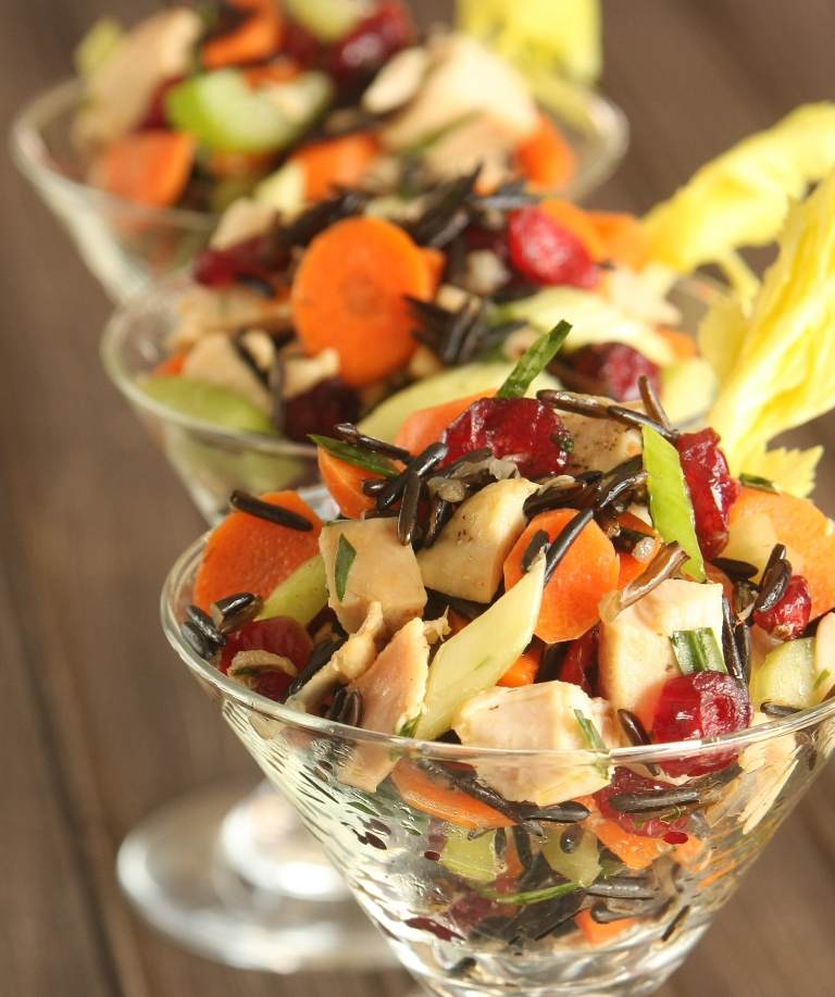 Thanksgiving Recipes ~ Wild Rice & Cranberry Salad with Candied ...