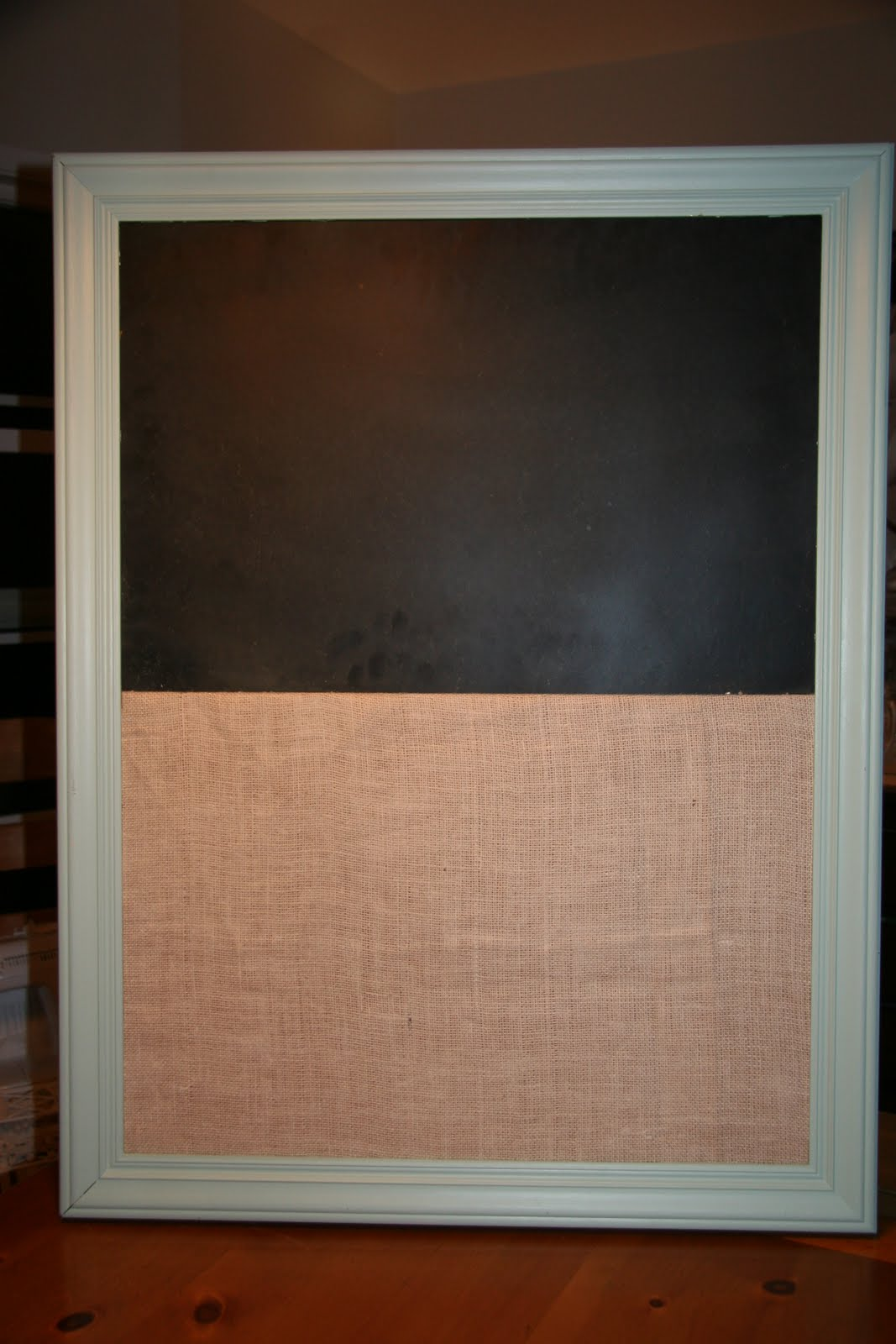 Four flights of fancy diy cork board chalkboard combo for Diy cork board