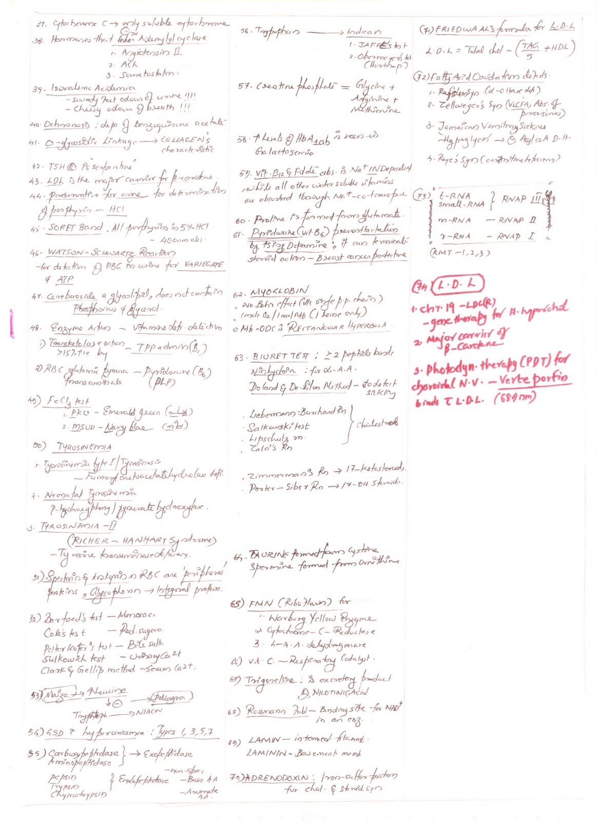 biochemistry notes Of plant biotechnology, industrial applications of plant biochemistry have  ics of  general biochemistry only when it seemed necessary for enhancing.