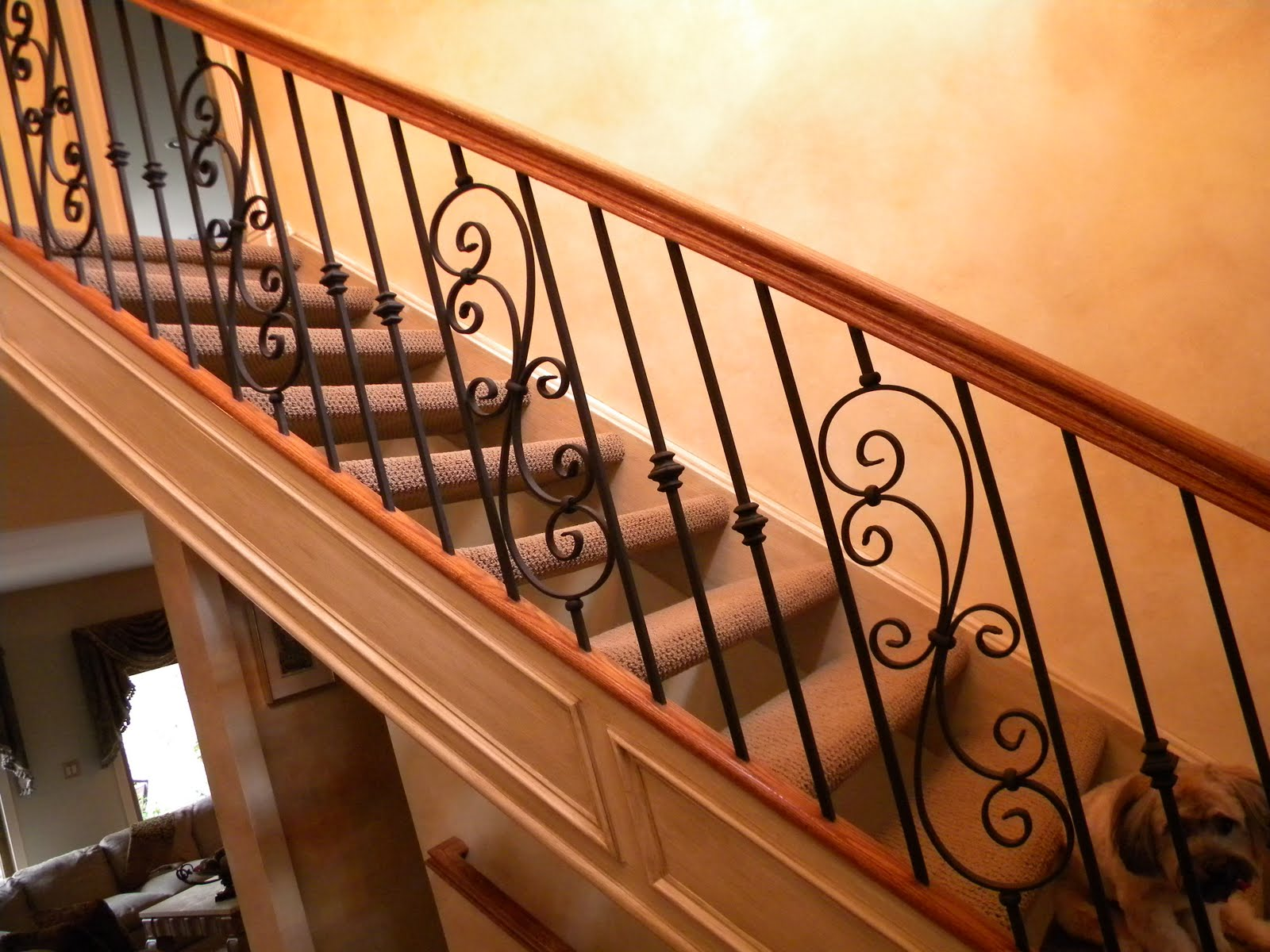 Here We Installed Iron Balusters ...