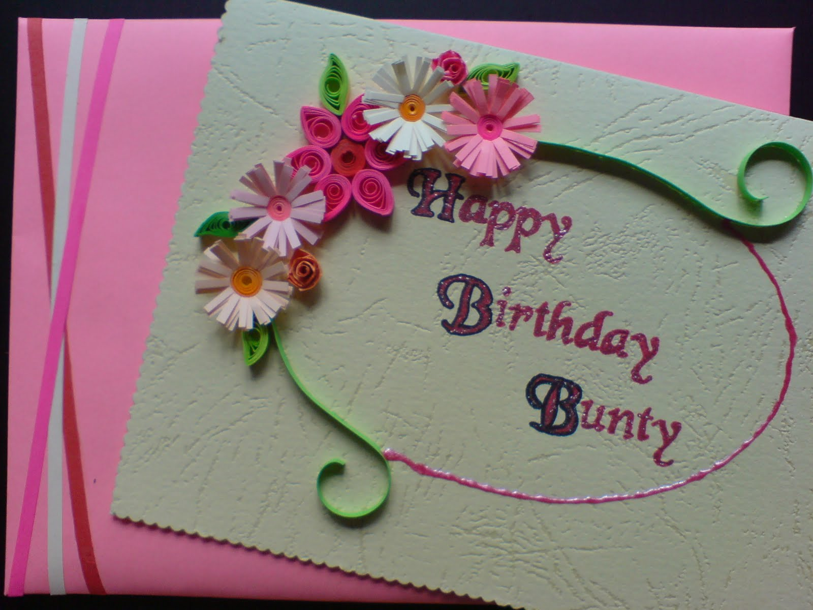 Handmade quilled greeting cards for by PaperDaisyCardDesign